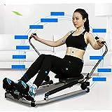 FESSLAND Fitness Training Rudergerät Rudergerät Home Silent Hydraulic Rudergerät Fitnessgeräte Multifunktions-Scull Ruderübung Taille Rücken (Farbe : Schwarz, Größe : 112x73x75cm) - 6