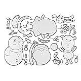 Plantillas de metal para hacer tarjetas, Navidad, Papá Noel, muñeco de nieve, ciervo