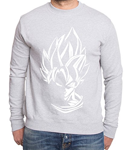 Super Son Goku Dragon Master Son Ball Vegeta Turtle Roshi Db Sweat-shirt pour homme - Gris - Large