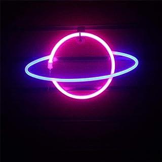 Sfuzwg Neonlicht, LED Planet Neon Zeichen dekorative Licht Wandleuchte, hängendes weiches Nachtlicht, für Home Bar Wandkun...