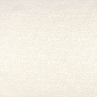 Designer Fabrics A073 54 in. Wide Off White Flowers Upholstery Fabric