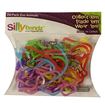 Silly Bandz Zoo Animals - 24 Pack
