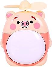 HUI JIN Mini ventilateur de bureau USB en forme de cochon pour enfant