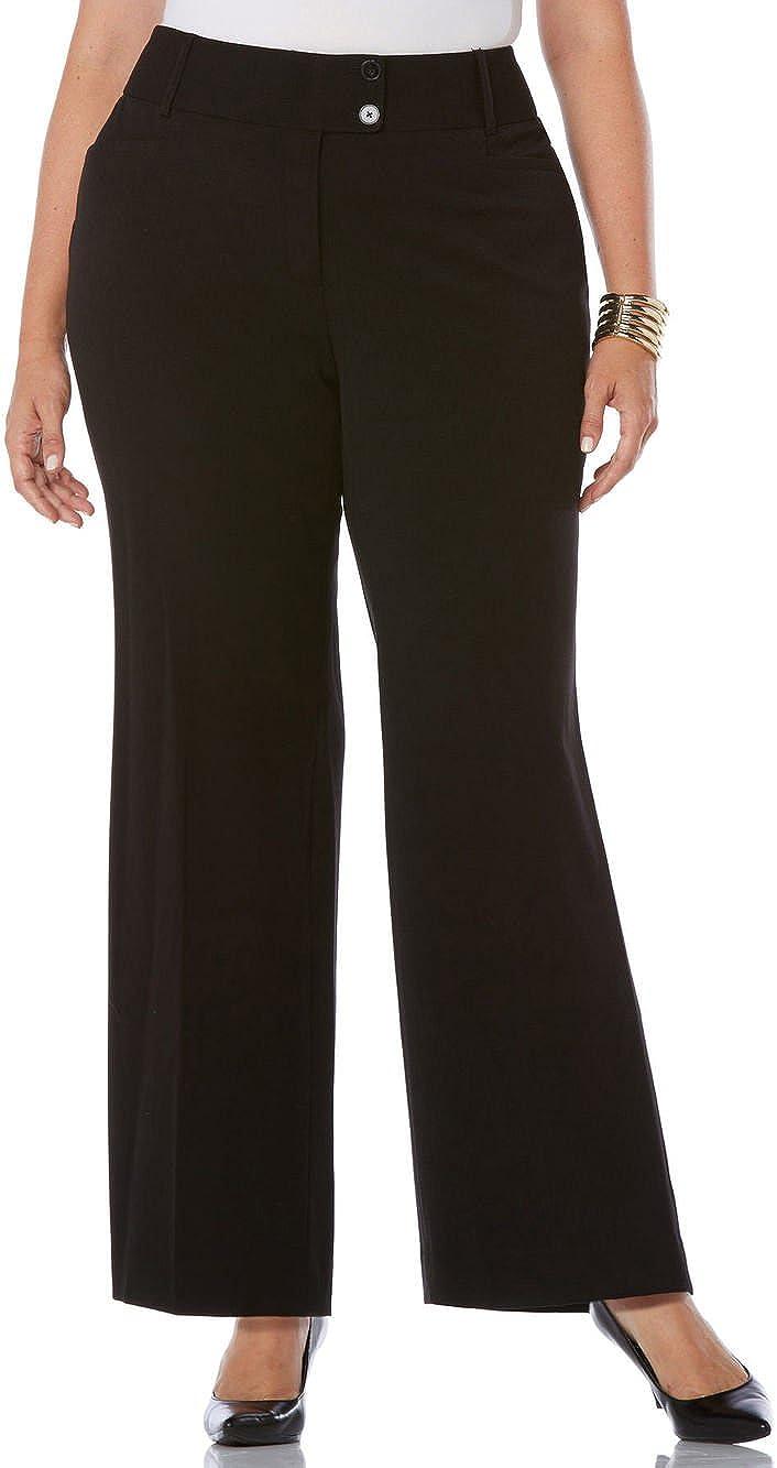 Rafaella Women's Plus-Size Curvy Fit Gabardine Bootcut Pant