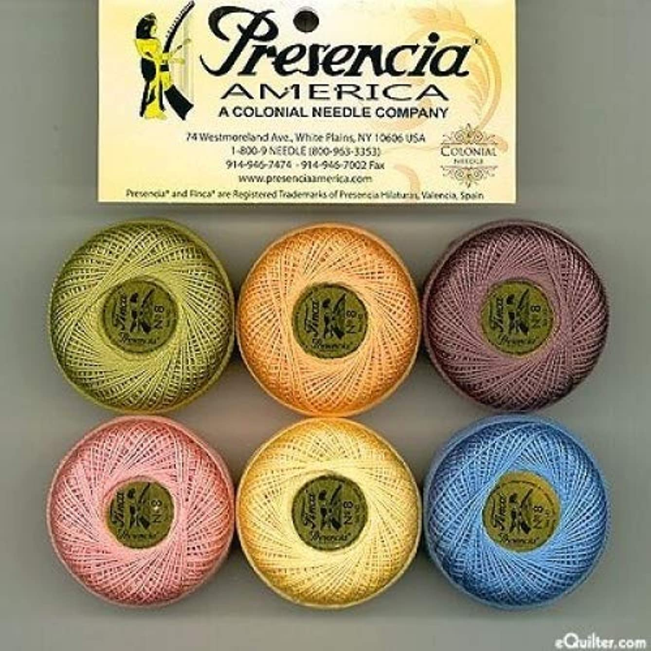 Presencia Finca Perle Cotton #8 Thread Sampler Pack - MONET (for sashiko, embroidery, and quilting)