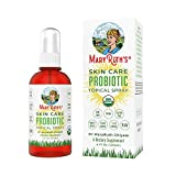 Organic Topical (Skin) Probiotic Spray by MaryRuth's (Plant-Based) USDA Certified Organic Non-GMO, Vegan, Raw, Paleo highly potent live strain flora For Eczema, Psoriasis, Rosacea, Wrinkles & more 4oz