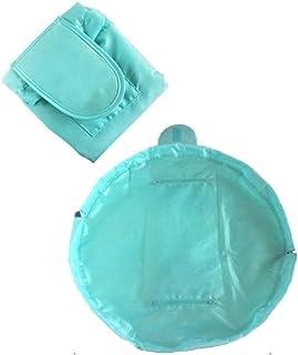 Lazy makeup bag new convenient travel large capacity storage bag hand drawstring cosmetic bag Khouses (Color : Light blue)