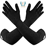 100% Kevlar Gloves with Sleeves by Dupont- Anti Scratch, Heat &...