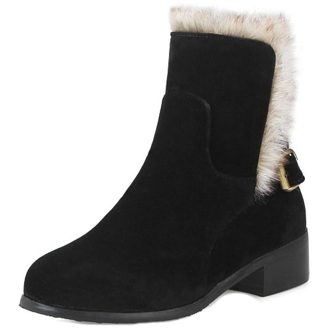 折の慈悲で宿[FANIMILA] レディース カジュアル ショートブーツ ローヒール ベルト ブーツ冬 小さい/大きいサイズ