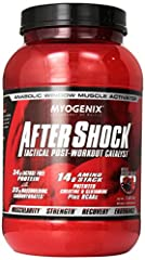 Myogenix aftershock wild berry blast 2.64 pounds 14g amino stack, creatine & glutamine plus bcaas (high absorption, patented magnesium creatinechela) 34g anabolic whey protein (100% lactose free, fast digesting proteins with di & tri peptides)