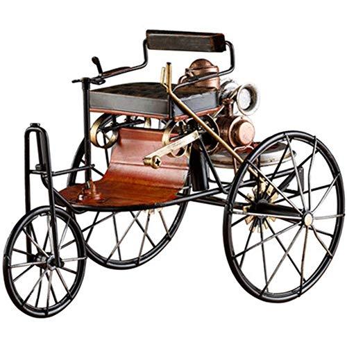 LIUCHANG Decoración Retro clásico del Coche 1886 la generación de Mercedes-Benz Car Hierro Forjado Estar del hogar Modelo Sala de Estudio Suave Decoración Decoración de Escritorio liuchang20