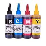 Gigablock 4 Color Refill Ink Bottle Set - 4 x 100ml for Brother LC103 MFC-J4310DW J4410DW J4510DW J4610DW J4710DW J285DW J450DW J470DW J475DW J650DW J870DW J875DW J6520DW J6720DW J6920DW
