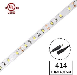HitLights Warm White LED Strip Lights, UL-Listed Premium High Density 2835 LED Lights - 10 Feet, 180 LEDs, 3000K, 414 Lumens 2.8 Watts/Foot, 12V DC LED Tape Light