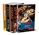 European Cookbook: 4 Books In 1: 280 Recipes For Authentic French And Spanish Food (English Edition)