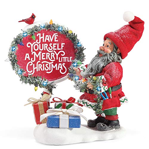 Department 56 Possible Dreams Accessories Santa All Ready Lit Figurine, 7 Inch, Multicolor