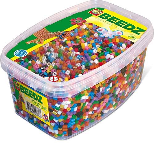 SES- Caja de Mezcla de 12000 Cuentas para Planchar básicas para niños, Multicolor (00779)
