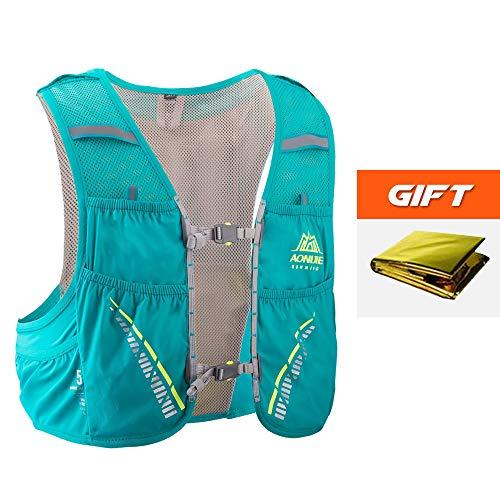 Lixada AONIJIE 5L Mochila Hidratación+Manta de Emergencia, Running Chaleco Transpirable y Ligero para Camping Marathoner Correr Caminar Escalada