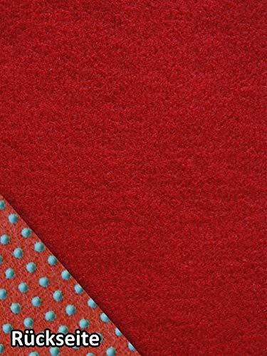 Rasenteppich Kunstrasen Basic+ rot Weich Meterware mit Drainage-Noppen, wasserdurchlässig (400x300 cm)