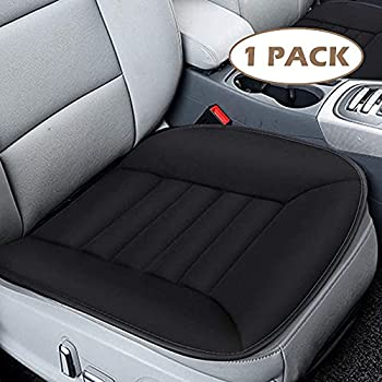 MYFAMIREA Car Seat Cushion Pad Comfort Seat Protector for Car Driver Seat Office Chair Home Use Memory Foam Seat Cushion with Non Slip Bottom Black