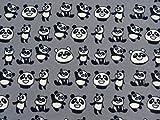 Bedruckter Fleecestoff mit Panda-Motiv, fusselfrei, zum