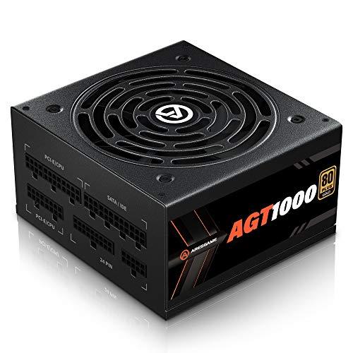 ARESGAME 1000W Alimentatore PC, Completamente Modulare, 80 Plus Gold(AGT1000)