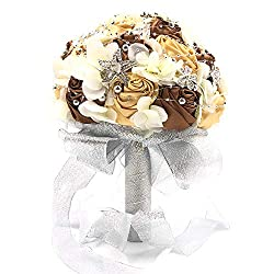 Champagne Wedding Bouquet Brooches