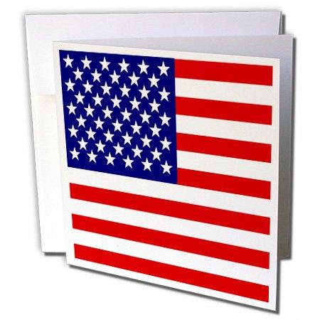3dRose GC 112805-Design mit US-Flagge, Sterne und Streifen, 15,2x 15,2cm, Patriot, 4. Juli, USA-Motiv (in englischer Sprache)