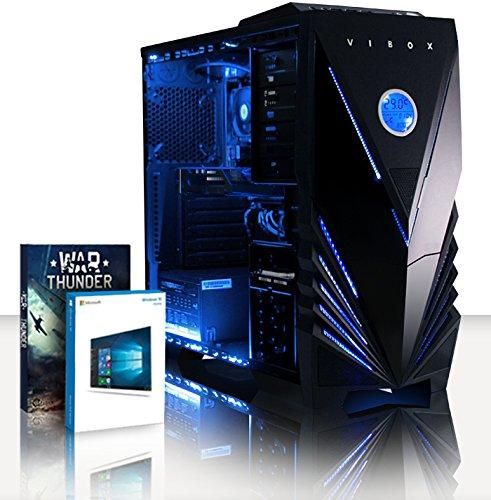 VIBOX Tornado 28 Gaming PC Computer mit War Thunder Spiel Bundle, Windows 10 OS (3,9GHz AMD A4 Dual-Core Prozessor, AMD Radeon R7 260X, 16Go DDR3 1600MHz RAM, 2TB HDD)