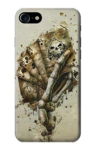 Skull Card Poker Funda Carcasa Case para iPhone 7