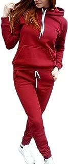 Womens 2 Piece Outfits Jogging Long Sleeve Hoodie Sweatshirt Tracksuit