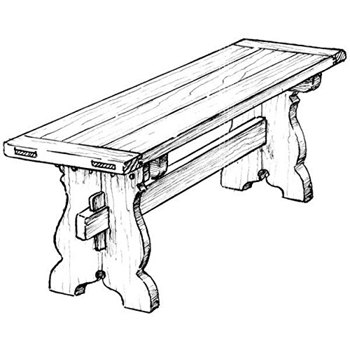 Woodworking Project Paper Plan to Build Trestle Bench