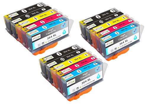 Reemplazo de Paquete de 15 Wintinten para Cartuchos de Tinta HP 364 364XL compatibles con impresoras HP Photosmart C5324, C5370, C5373, C5380, C5383, C5388, C5390, C5393, C6300, C6324, C6380
