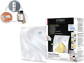 CASO ZIP-zak 20 x 23 cm, 20 stuks voor CASO vacuümverpakker met zip-adapter, kookvast, geschikt voor magnetron en sous-vid...