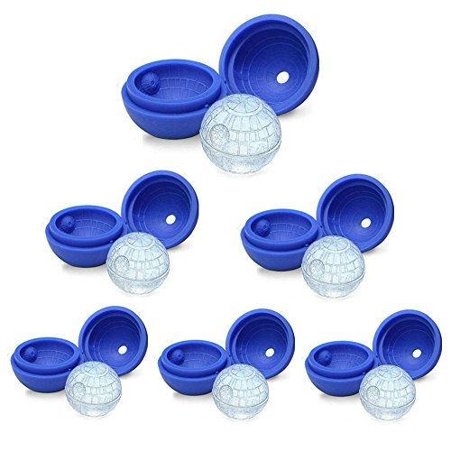 IXI Star Wars Death Star Ice Cube Tray Molds, Silicone Ice Molds Pack of 6