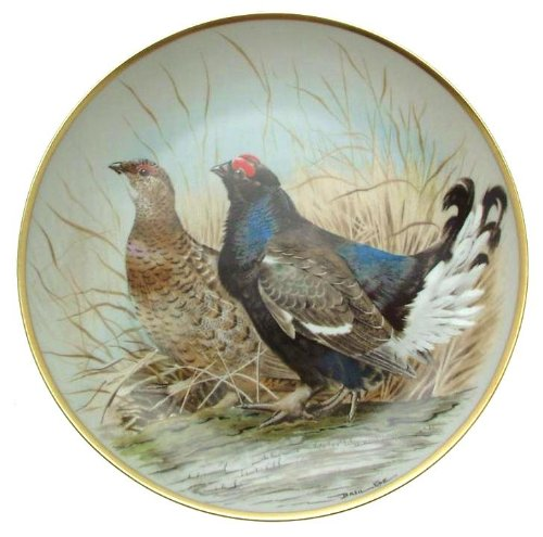 Franklin CP1880 Porcelaine Noire Gamebirds of The World Haviland Limoges