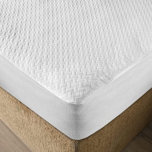Ambesonne Mattress Protector Waterproof Breathable Sheet All Around Elastic Fitted Bed Cover, Full XL