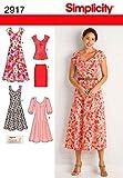 Simplicity 2917 AA - Patrones de Costura para Vestidos de Mujer (Tallas Grandes)