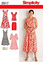 SIMPLICITY MISSES'/WOMEN'S DRESS IN TWO-10 12 14 16 18 (並行輸入品)