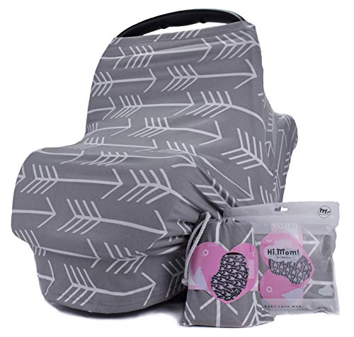 Nursing Breastfeeding Cover - Multi use Baby Car seat Cover for Girls and Boys by Bilncece
