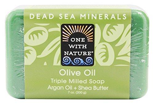 One With Nature - Savon de barre minéral de mer morte hydratant l'huile d'olive - 7 oz.