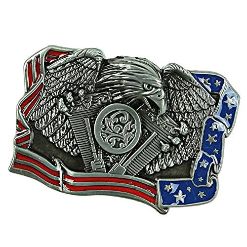 HQYYDS Corbata bolo Western Cowboy Bandera Cinturón Hebilla Cinturón Hebillas Hombres Metal Cinturón Hebillas Hombres Metal Novelty Cowboy Cinturón