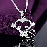 ZHIFUBA Co.,Ltd Collar Elegante Collar Minimalista Micro-Set Monkey Colgante Collar Adorno Regalo para Mujeres y Niñas