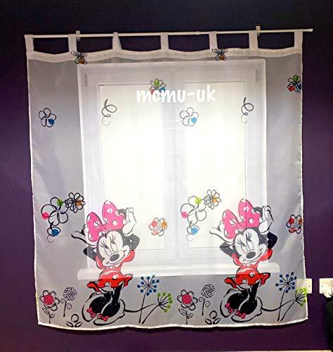 Polontex Disney - Tenda con passanti Minnie Mouse, 225 x 160 cm, per cameretta dei bambini