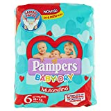 Pampers Baby Dry, Mutandino XL, 14 Pannolini, Taglia 6 (15+ Kg)
