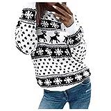 ReooLy - Suéter de Navidad para Mujer, Manga Larga, Cuello Redondo, árbol de Navidad, suéter Tejido,...