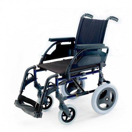 "Silla de ruedas plegable Breezy Premium con ruedas de 24"" - 43, GRIS SELENIO, NEUMATICAS"