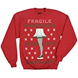 A Christmas Story Leg Lamp Ugly Christmas Faux Sweater Sweatshirt-XX-Large Red