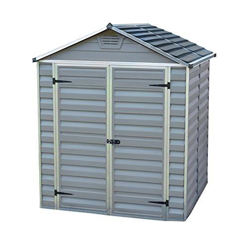 Palram Skylight Shed Gerätehäuser, dunkel grau/anthrazit, 153.5 x 185.5 x 217 cm