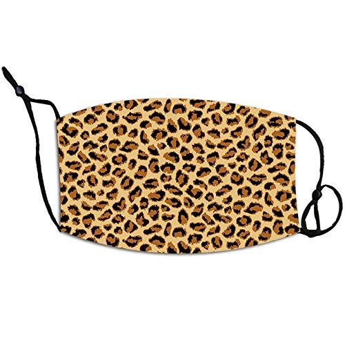 N / A Explosive Zivilmaske mit SerpentinenLeopardenmuster und hängendem Ohr, einstellbare PM2.5Staubschutzmaske, universelle Gesichtsmaskenmaske für Weihnachtsmänner und Frauen