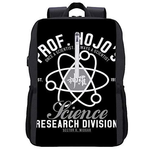 Professor Hojos Science Division Rucksack Daypack Bookbag Laptop Schultasche mit USB-Ladeanschluss